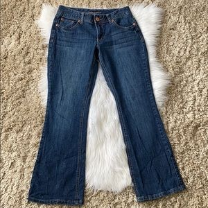 Maurices curvy jeans straight cut light flare